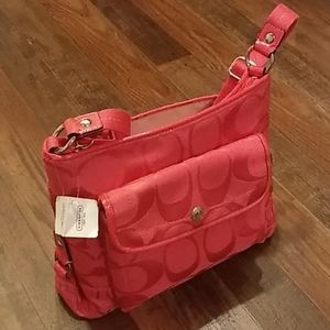 Coach Kyra nylon signature bag